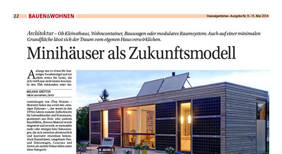 Bericht in der Hauseigentümerzeitung Mai 2015