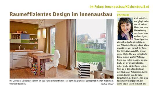Bericht in de Schweizer Holzzeitung vom 22. August 2013