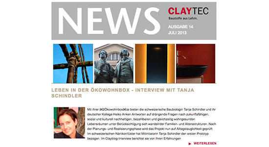 Claytec Newsletter 07/2013